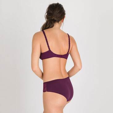 Midi brief in Dark Purple - Flower Elegance-PLAYTEX