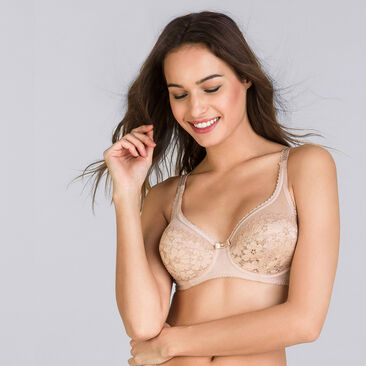 Full cup bra in beige Classic Lace Support, , PLAYTEX