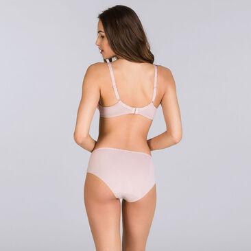 Pink and beige full cup bra - Flower Elegance-PLAYTEX