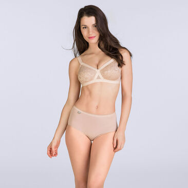 Beige non-wired bra - Cross your Heart Lace-PLAYTEX