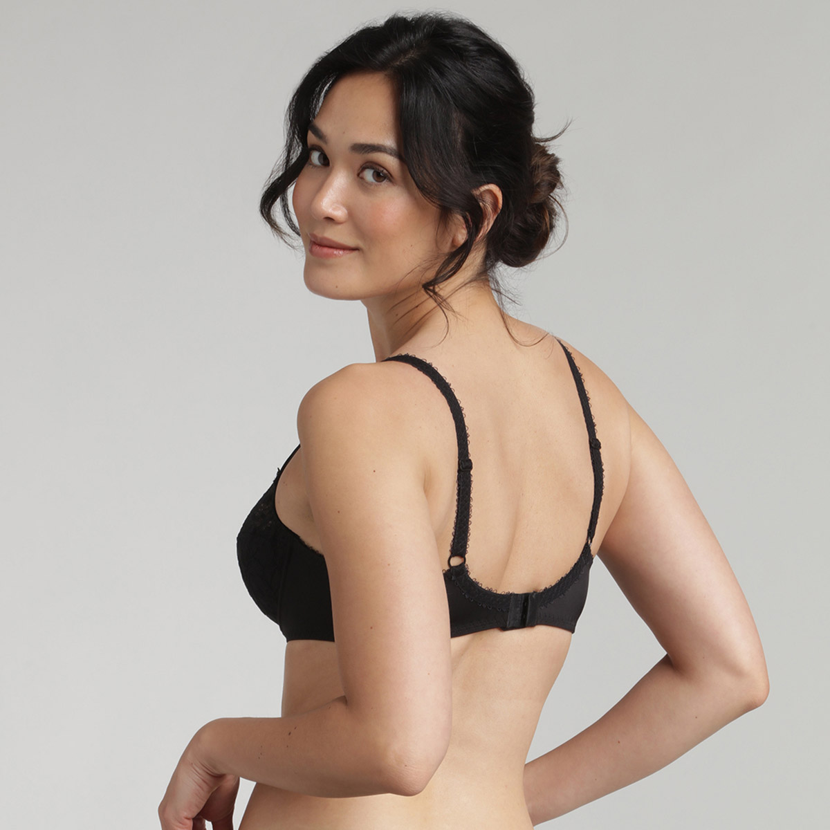 Balcony bra in black Flower Elegance, , PLAYTEX