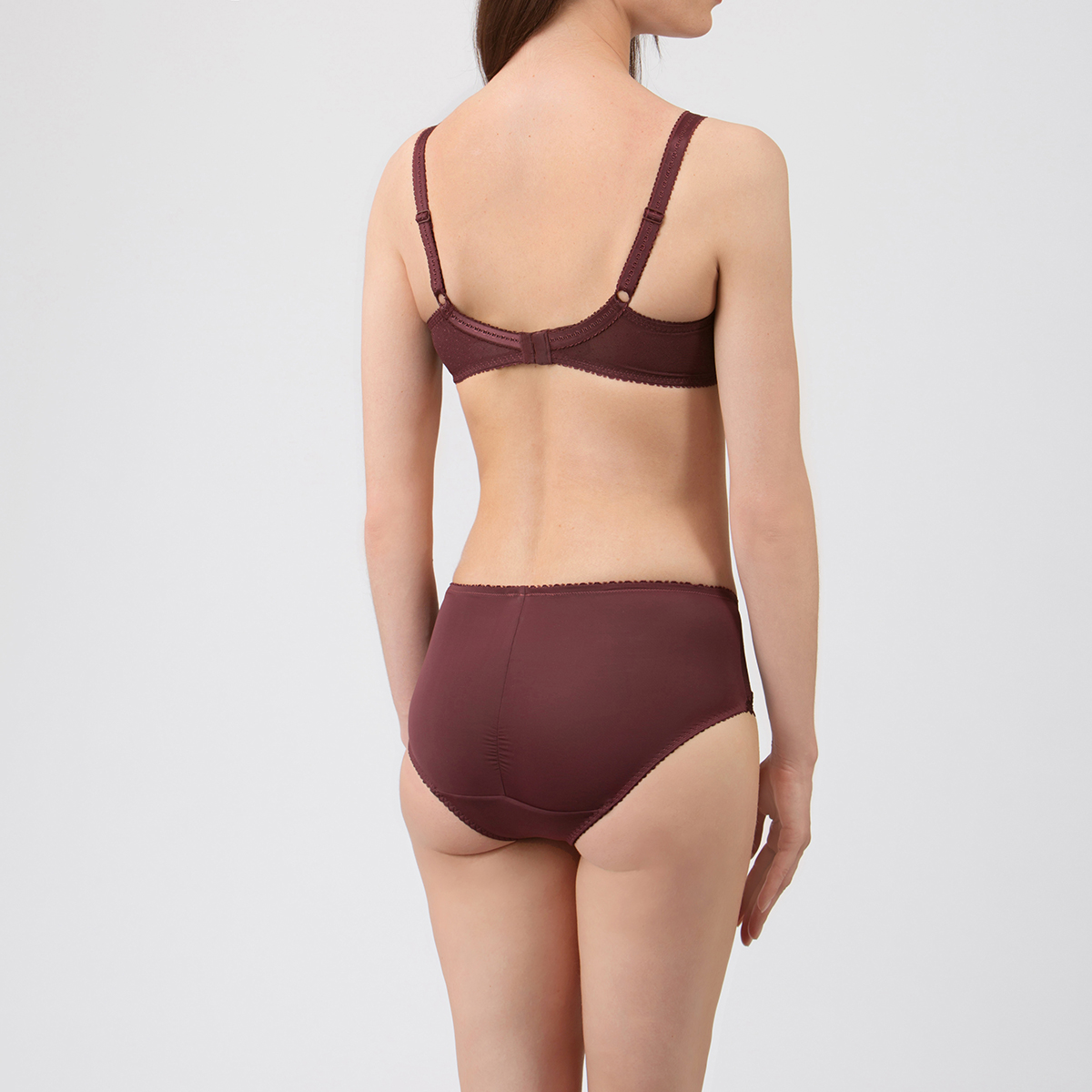 Midi Brief in Brown – Classic Lace Support-PLAYTEX