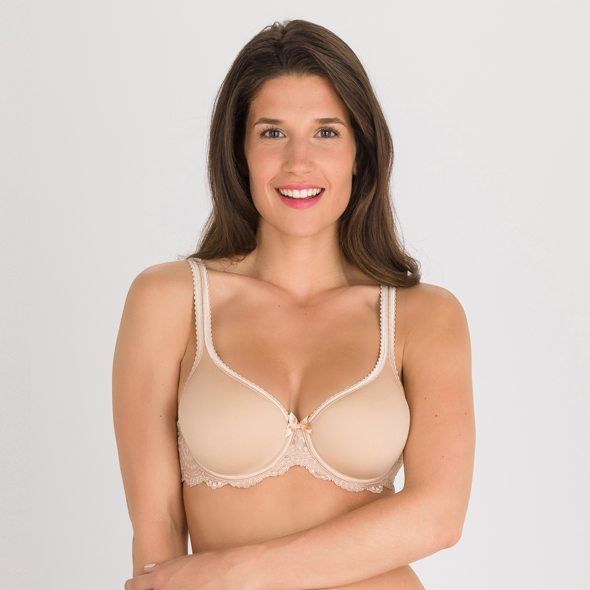 Spacer bra in beige - Flower Elegance, , PLAYTEX