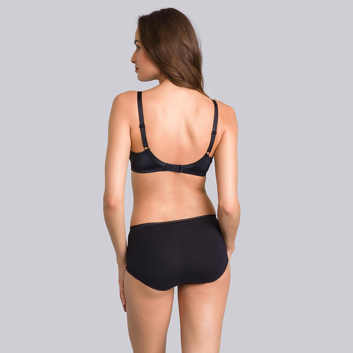 Non-Wired Full Cup Bra in Black - Cross Your Heart Modern Tricot-PLAYTEX