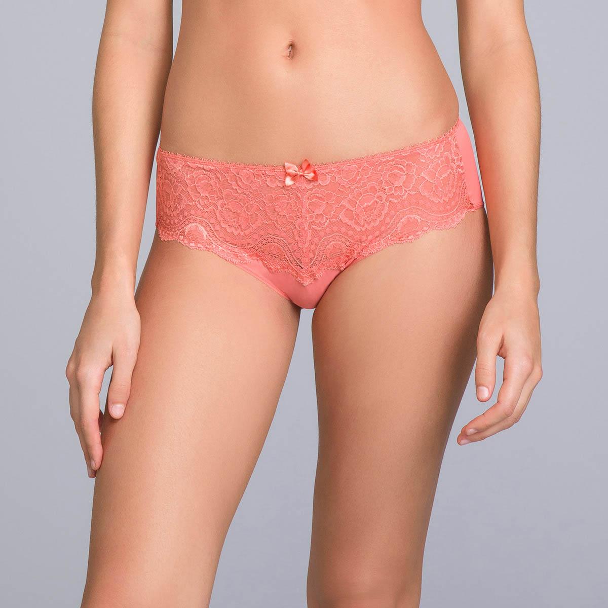 Midi Knickers in Cinnamon Orange Lace - Flower Elegance - PLAYTEX