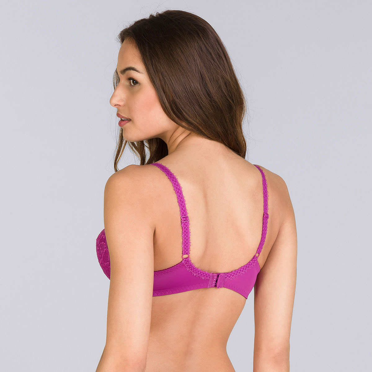 Purple fuchsia full cup bra - Flower Elegance-PLAYTEX