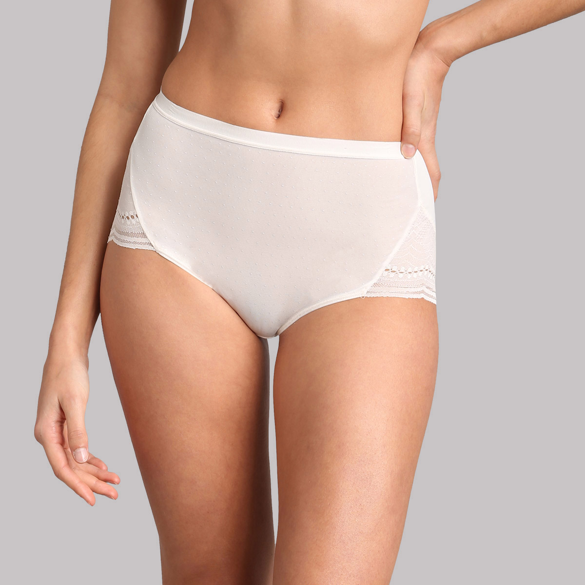 High-rise knickers in ivory - Secret Comfort, , PLAYTEX