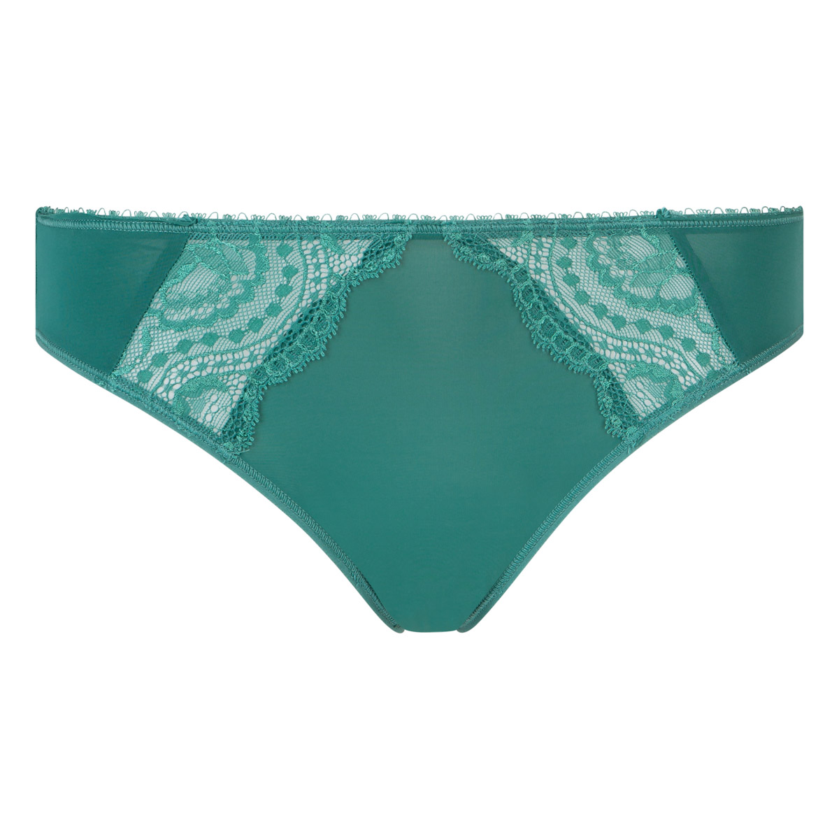 Bikini style knickers in palm green - Flower Elegance, , PLAYTEX