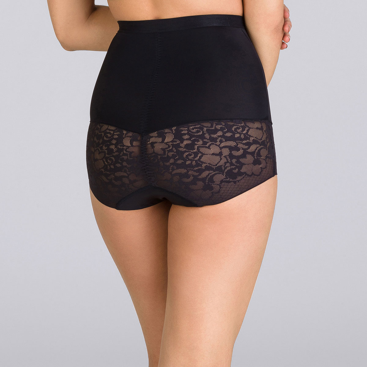 Black High-Waisted Girdle - Expert in Silhouette, , PLAYTEX