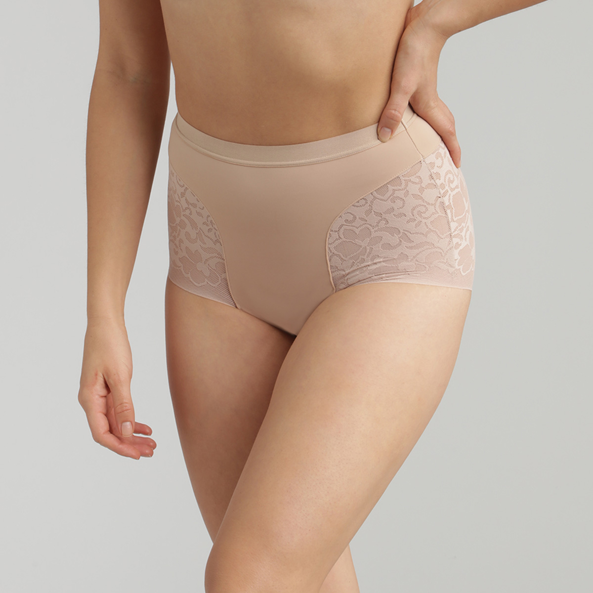 Beige Full Shaping Briefs - Expert in Silhouette, , PLAYTEX