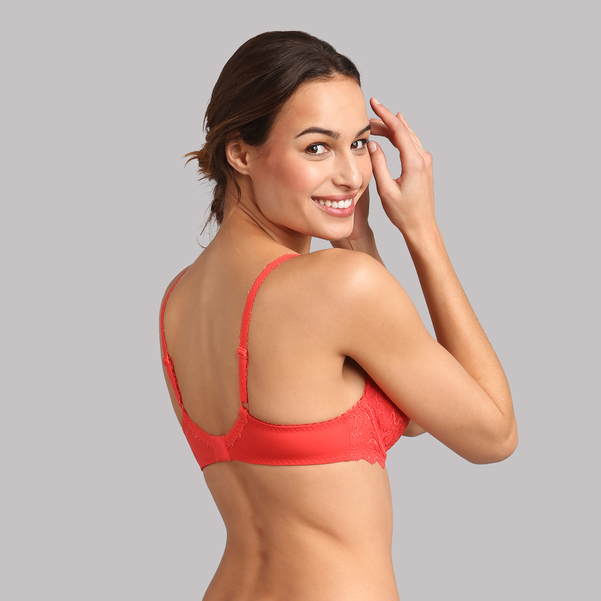 Underwired bra in coral - Flower Elegance, , PLAYTEX