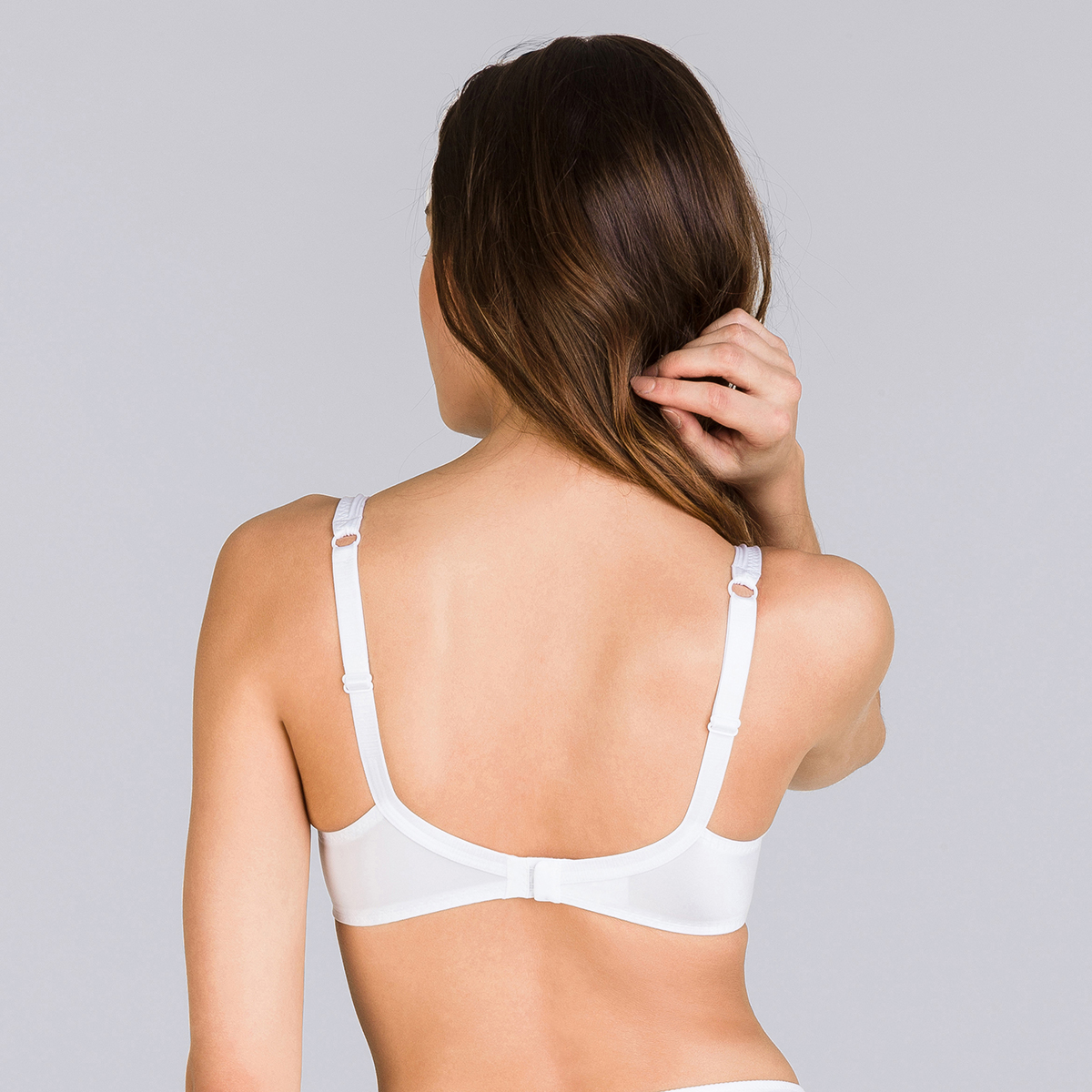 Full Cup Bra in White – Perfect Silhouette-PLAYTEX