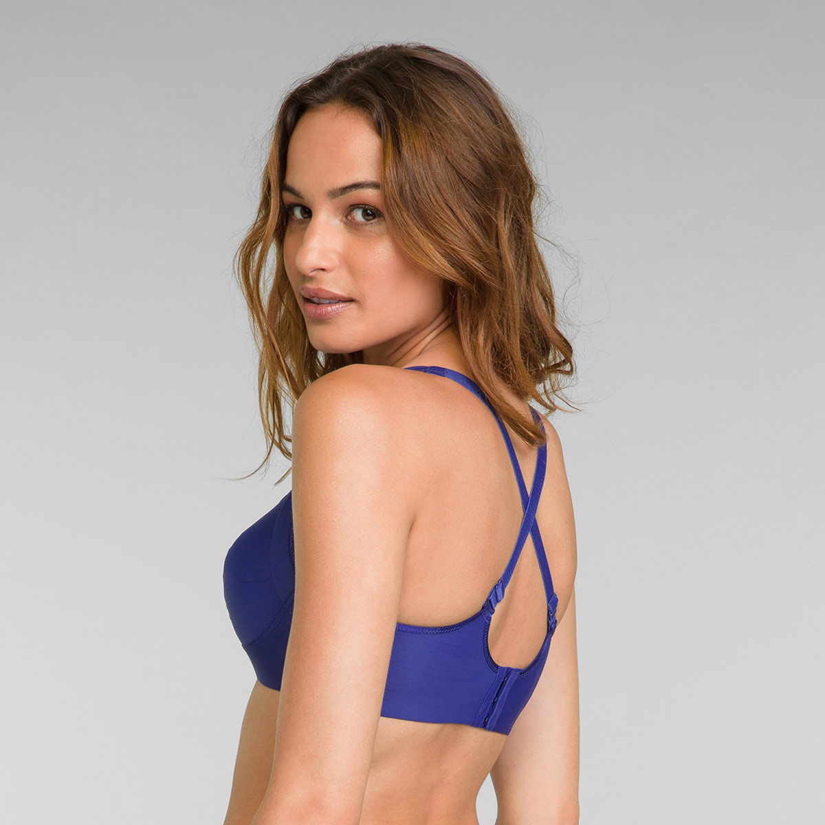 Non Wired Bra in Sami Blue Feel Good Support, , PLAYTEX