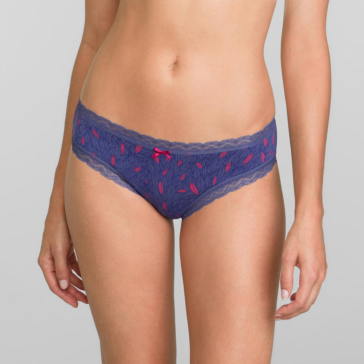 Knickers in Graphic Leaves Print Cotton Fancy 2 pack, , PLAYTEX