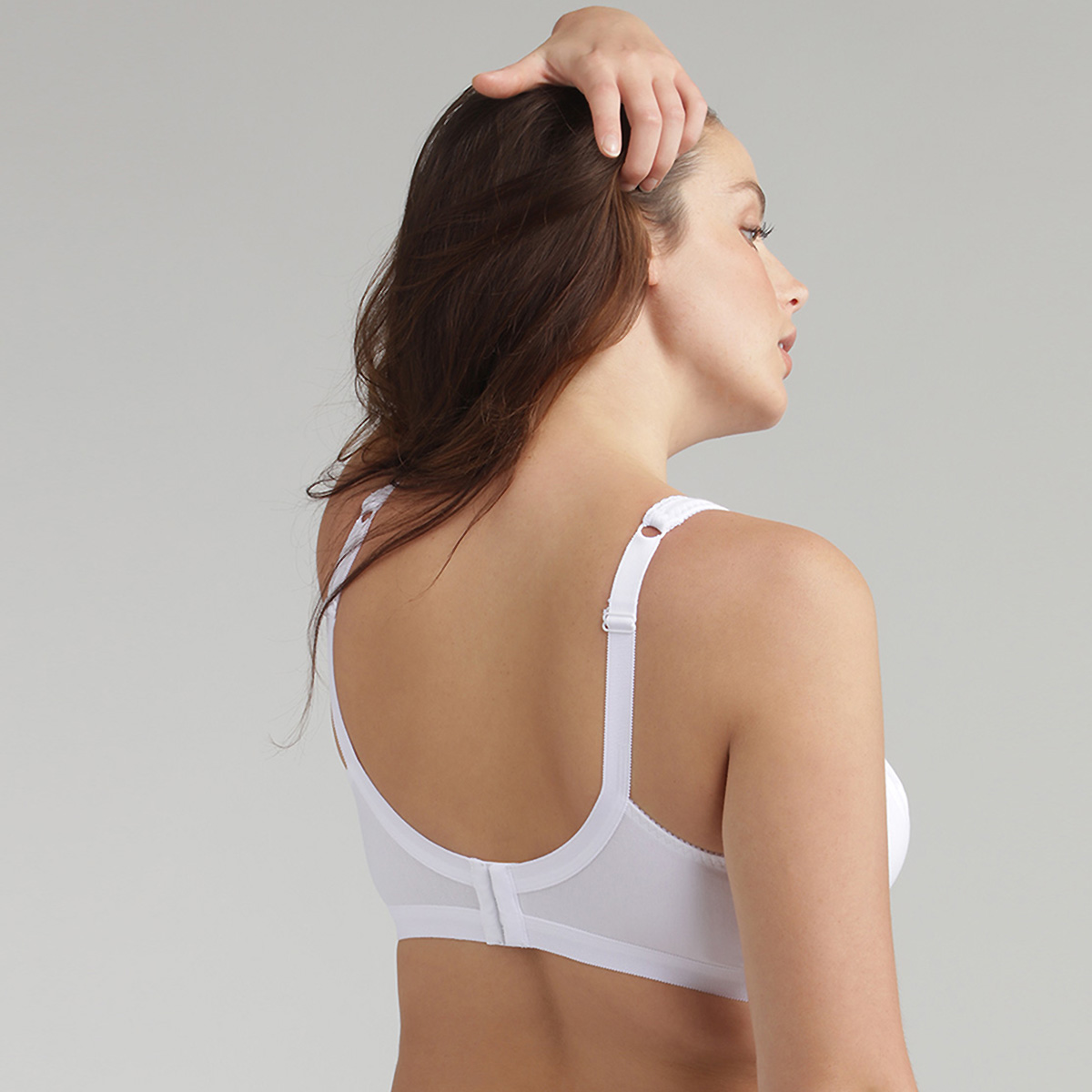 Non-wired bra in white Cotton Support, , PLAYTEX