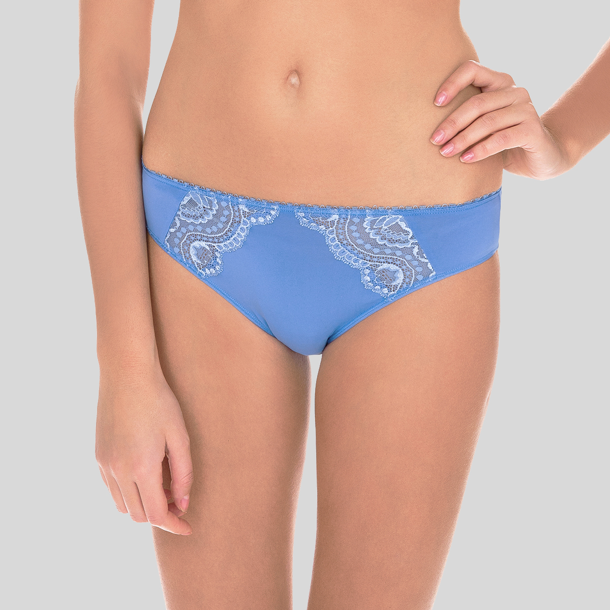 Mini Brief in Blue – Flower Elegance-PLAYTEX