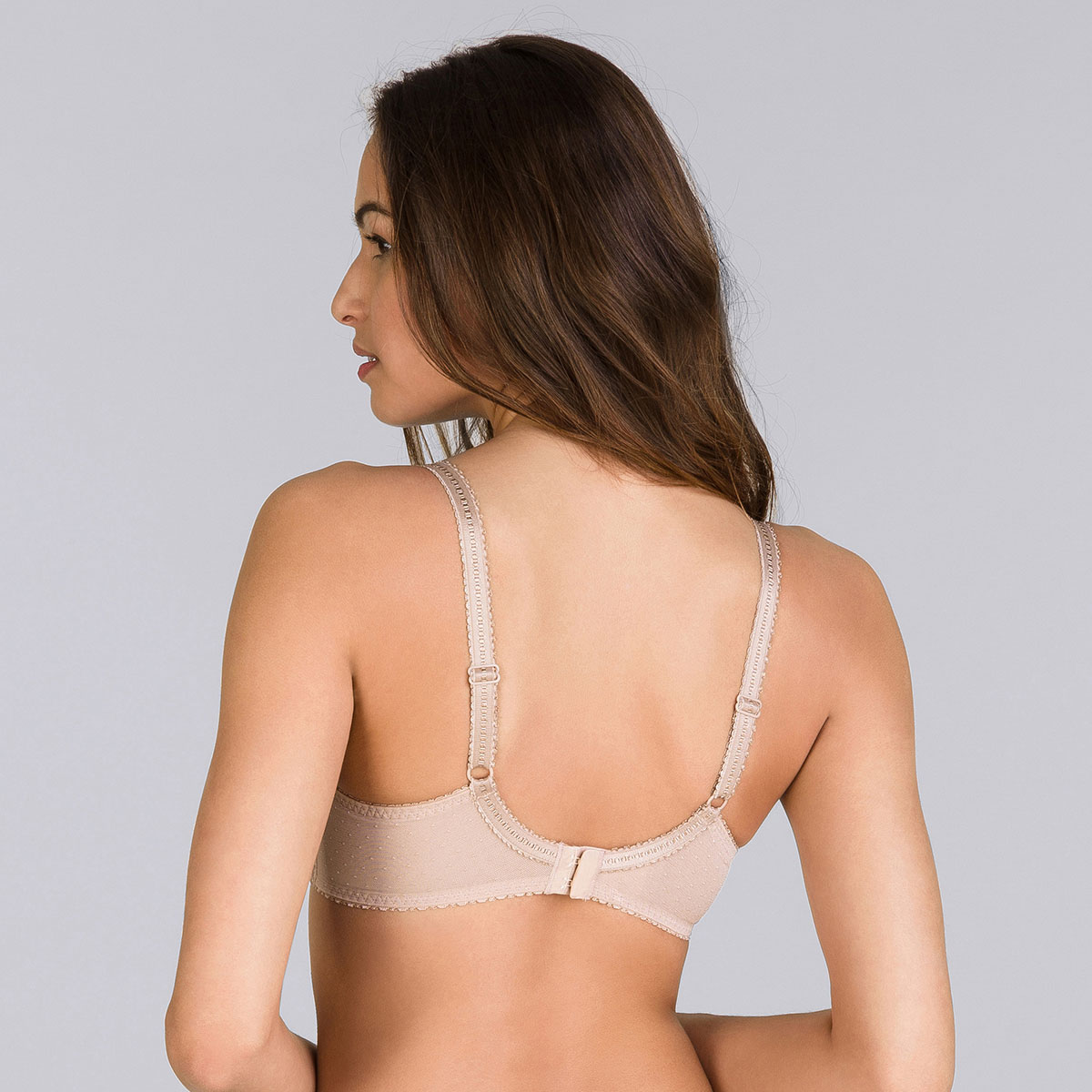 Beige full cup bra - Cross your Heart Lace-PLAYTEX