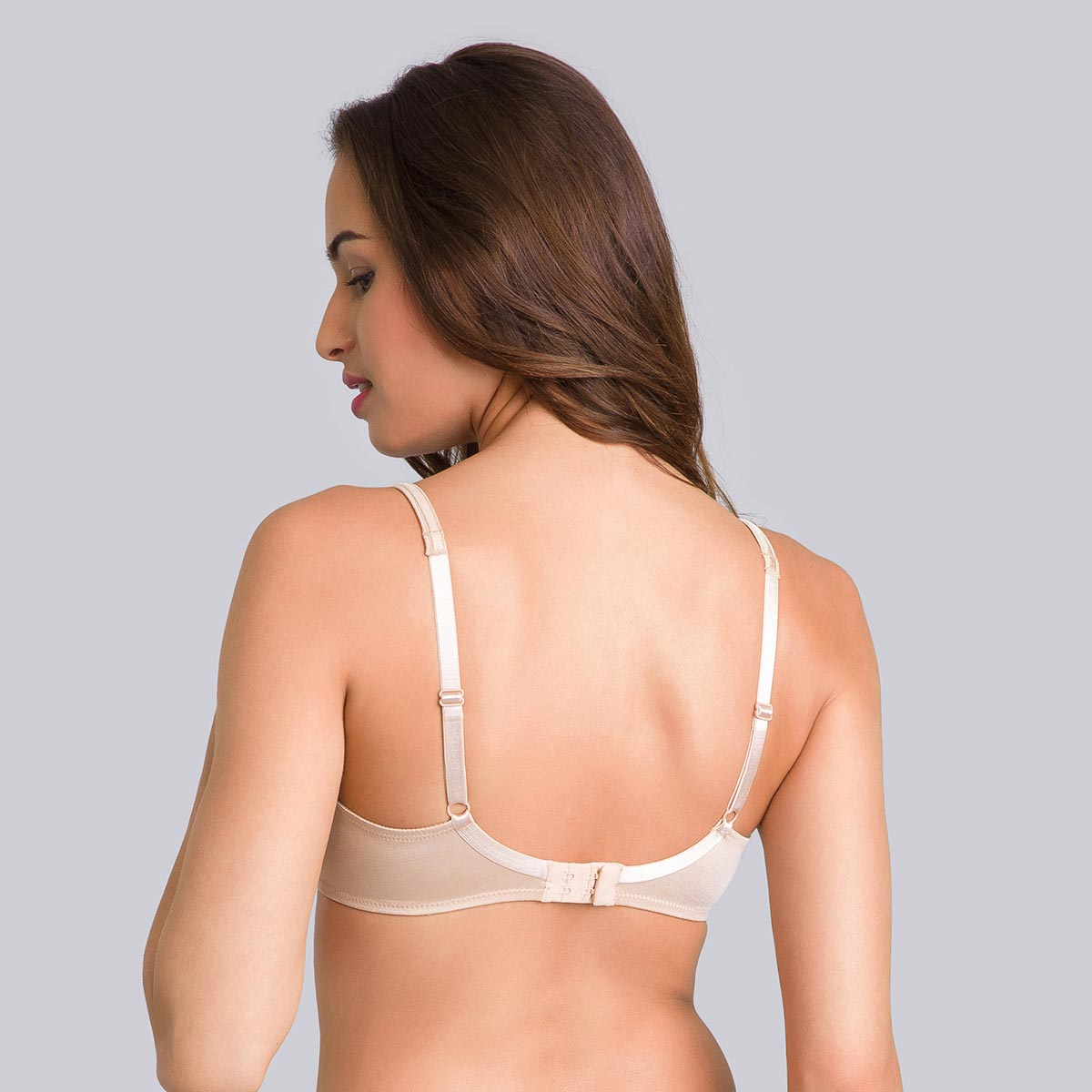 Full Cup Underwired Bra in Beige - Satiny Micro-Support-PLAYTEX