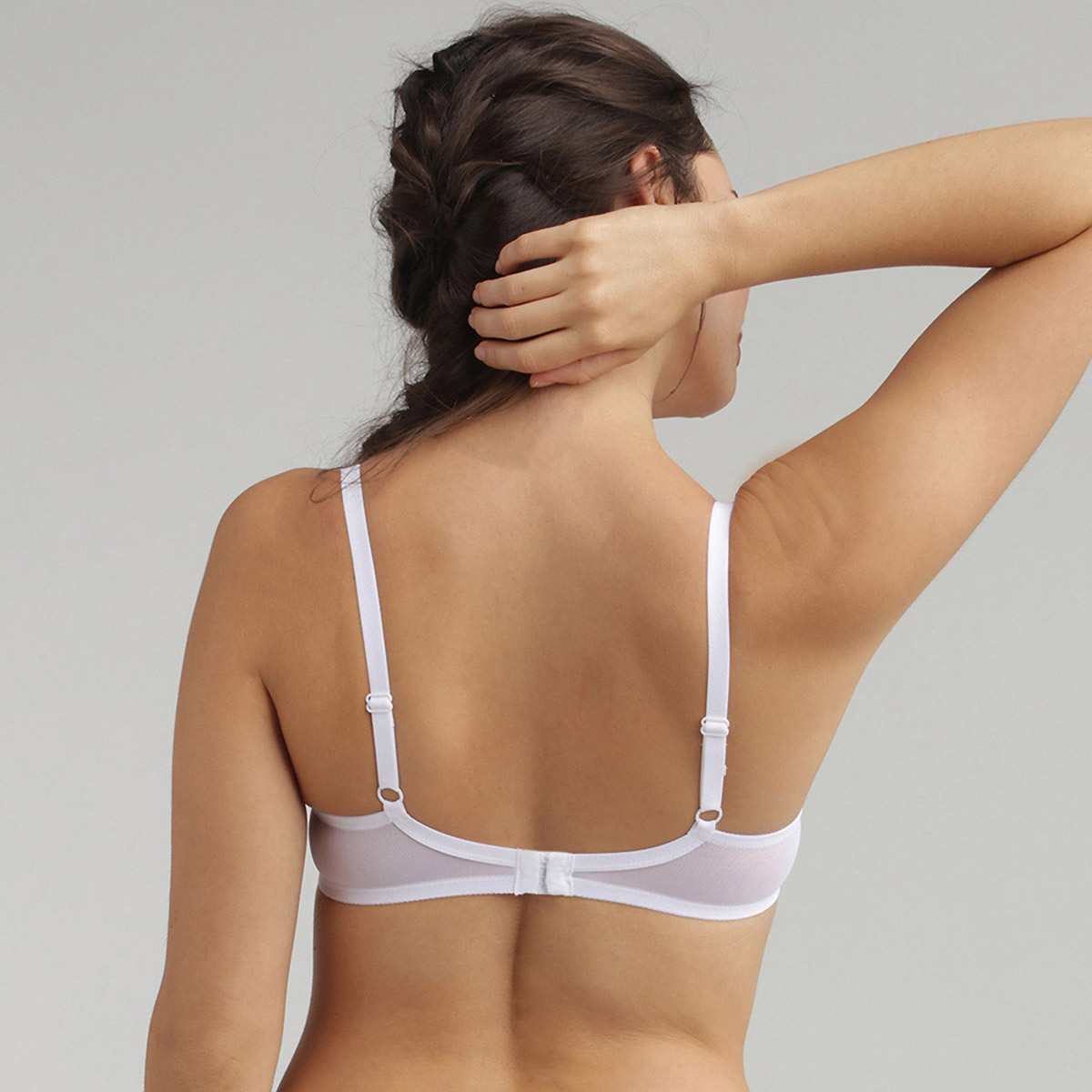 Underwired Lace Bra in White Essential Elegance, , PLAYTEX