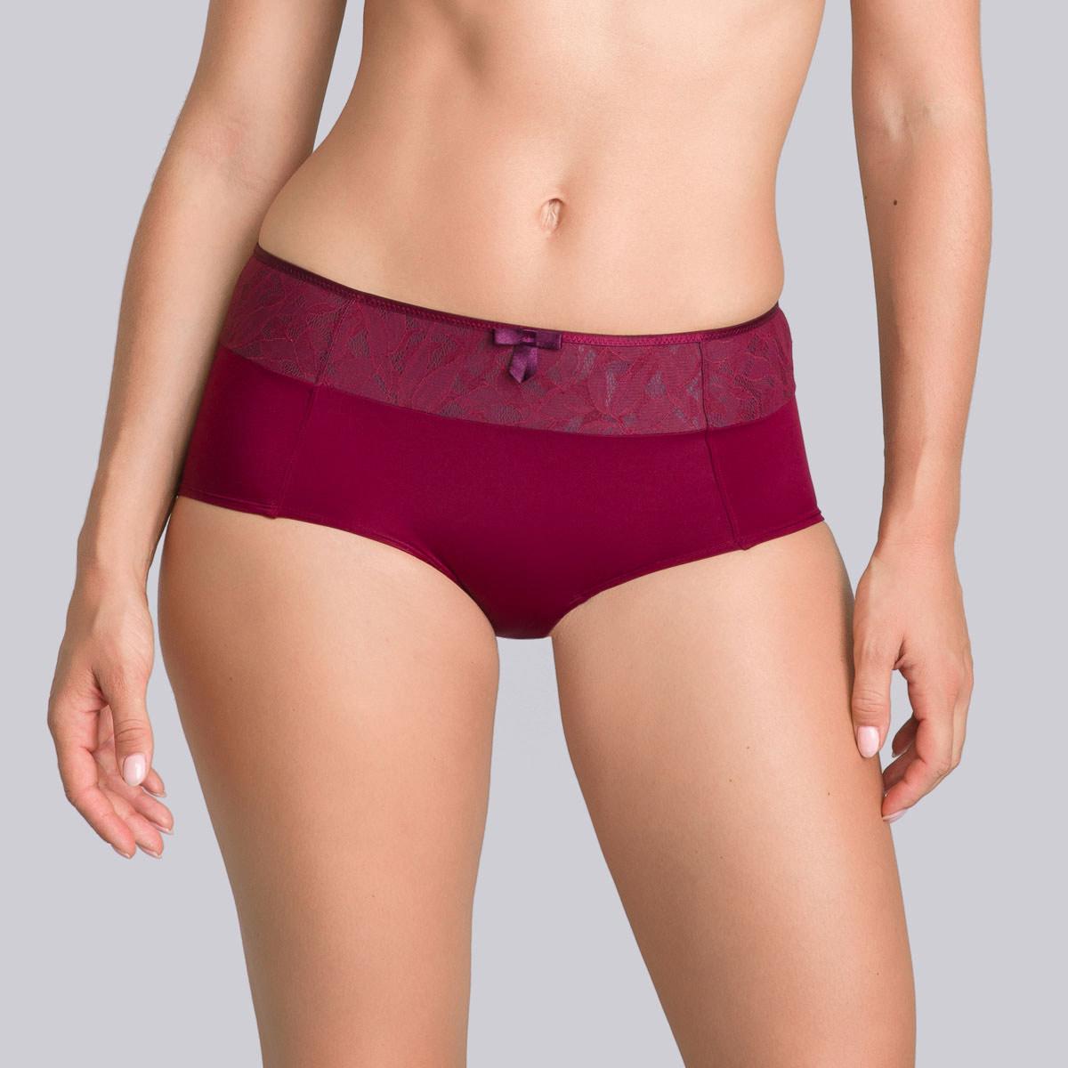 Burgundy grey boy shorts - Ideal Beauty Lace-PLAYTEX
