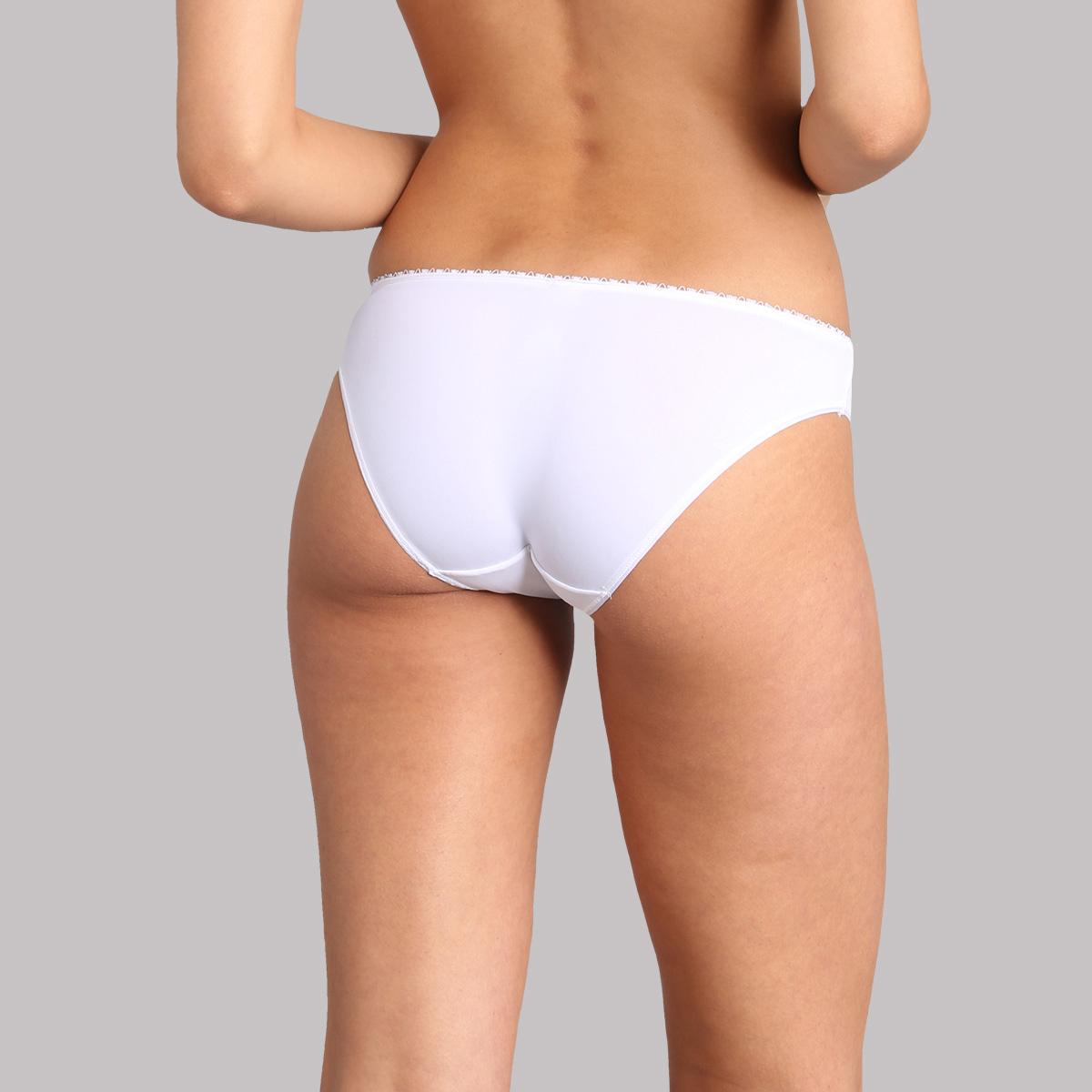 Bikini knickers in white blossom print - Flower Elegance Micro, , PLAYTEX