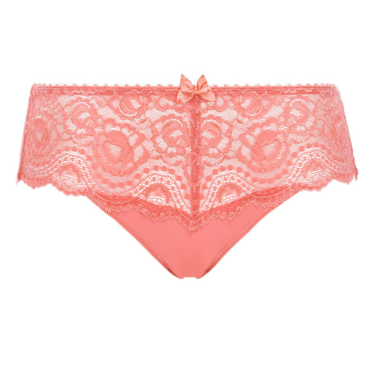 Midi Knickers in Cinnamon Orange Lace - Flower Elegance - PLAYTEX