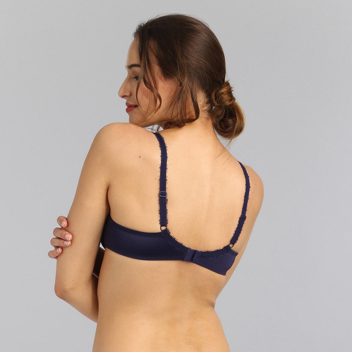 Underwired bra in blue garden print Flower Elegance Micro, , PLAYTEX
