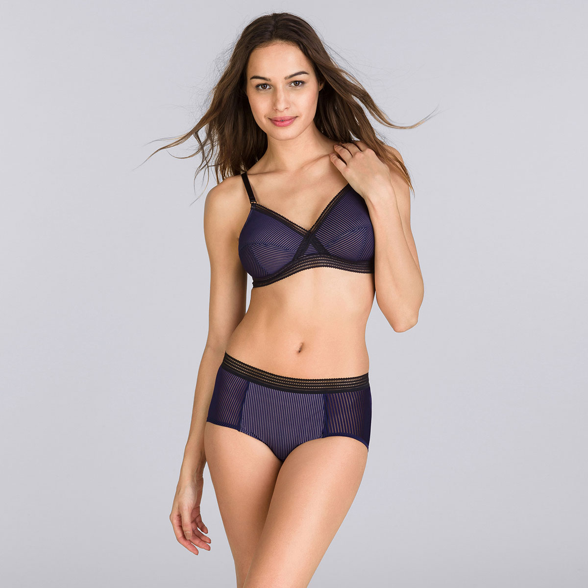 Navy blue & black short - Smoking Chic-PLAYTEX