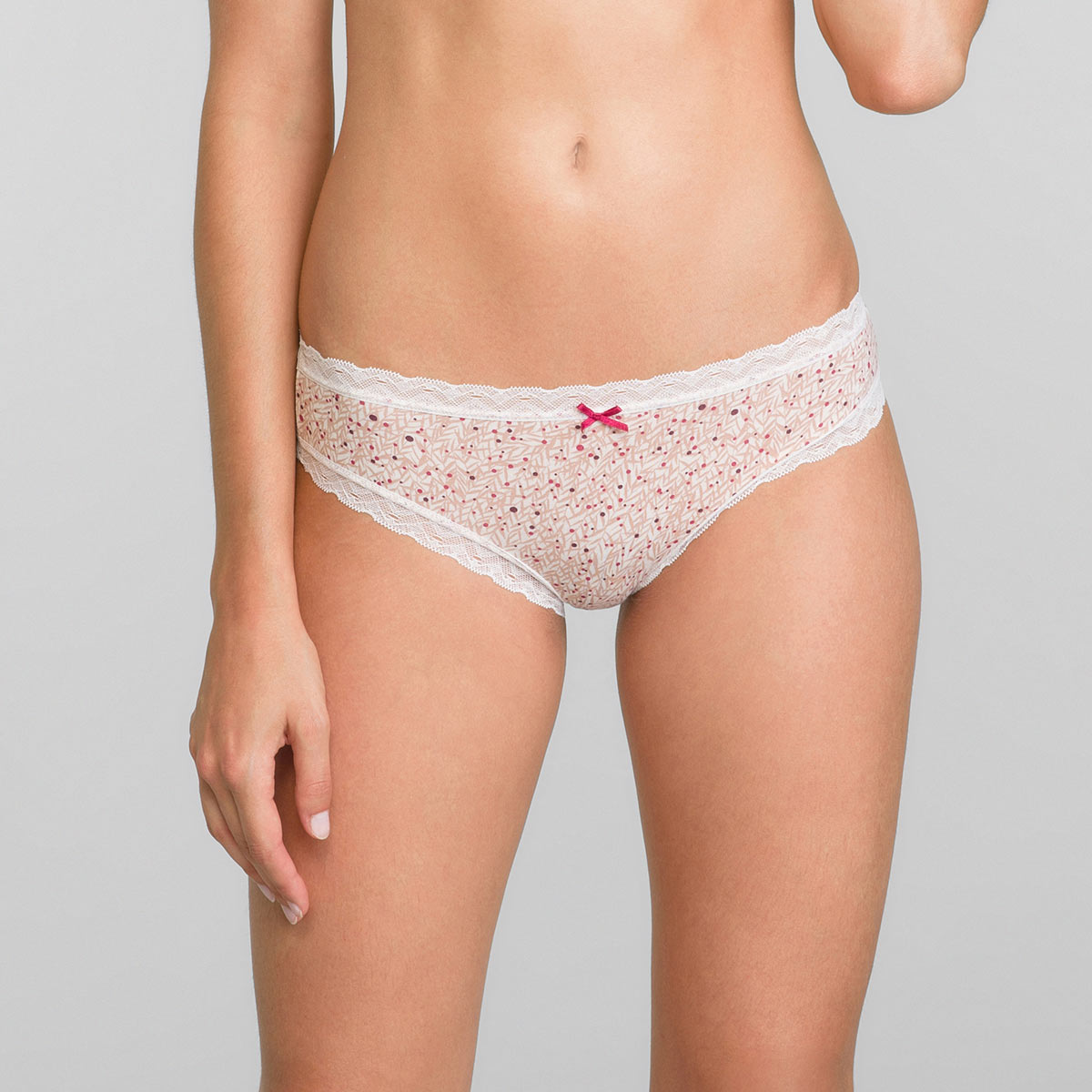 Knickers in Red Cherry Tree Print Cotton Fancy, , PLAYTEX