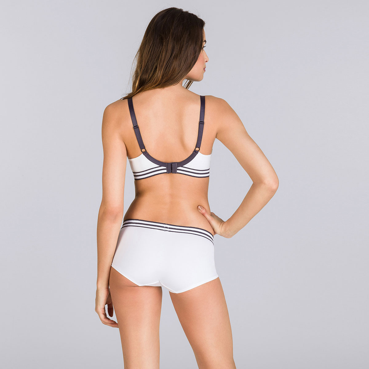 White and grey non-wired bra - Sporty Chic-PLAYTEX