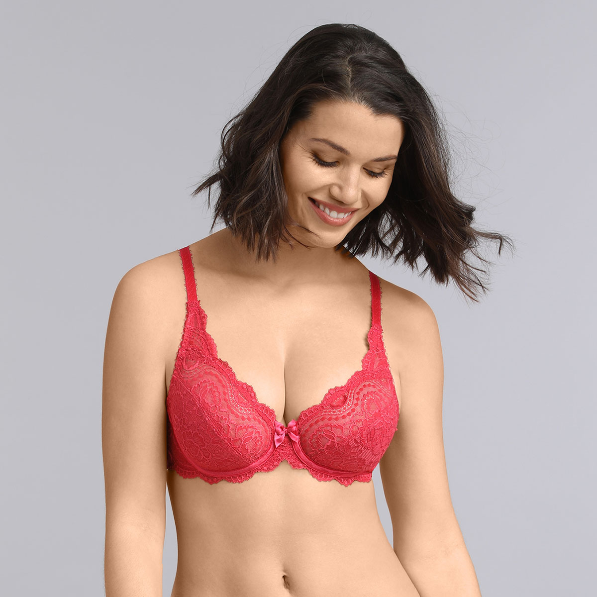 Underwired bra in raspberry Flower Elegance, , PLAYTEX