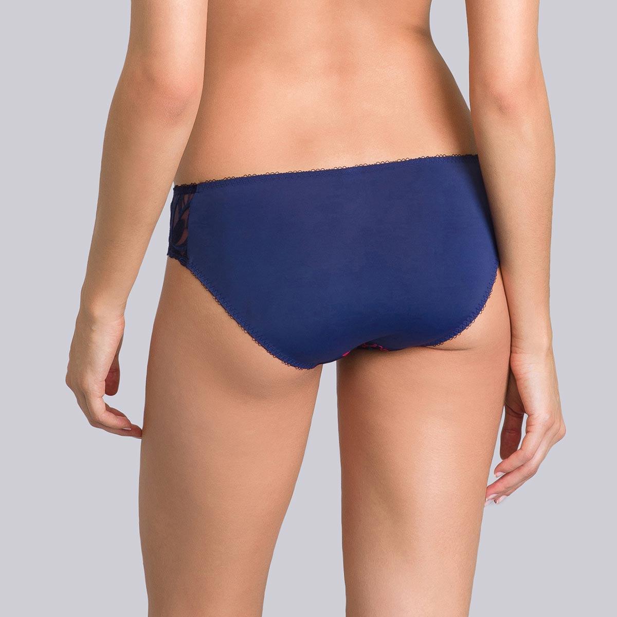 Blue mini briefs with coral print - Daily Elegance-PLAYTEX