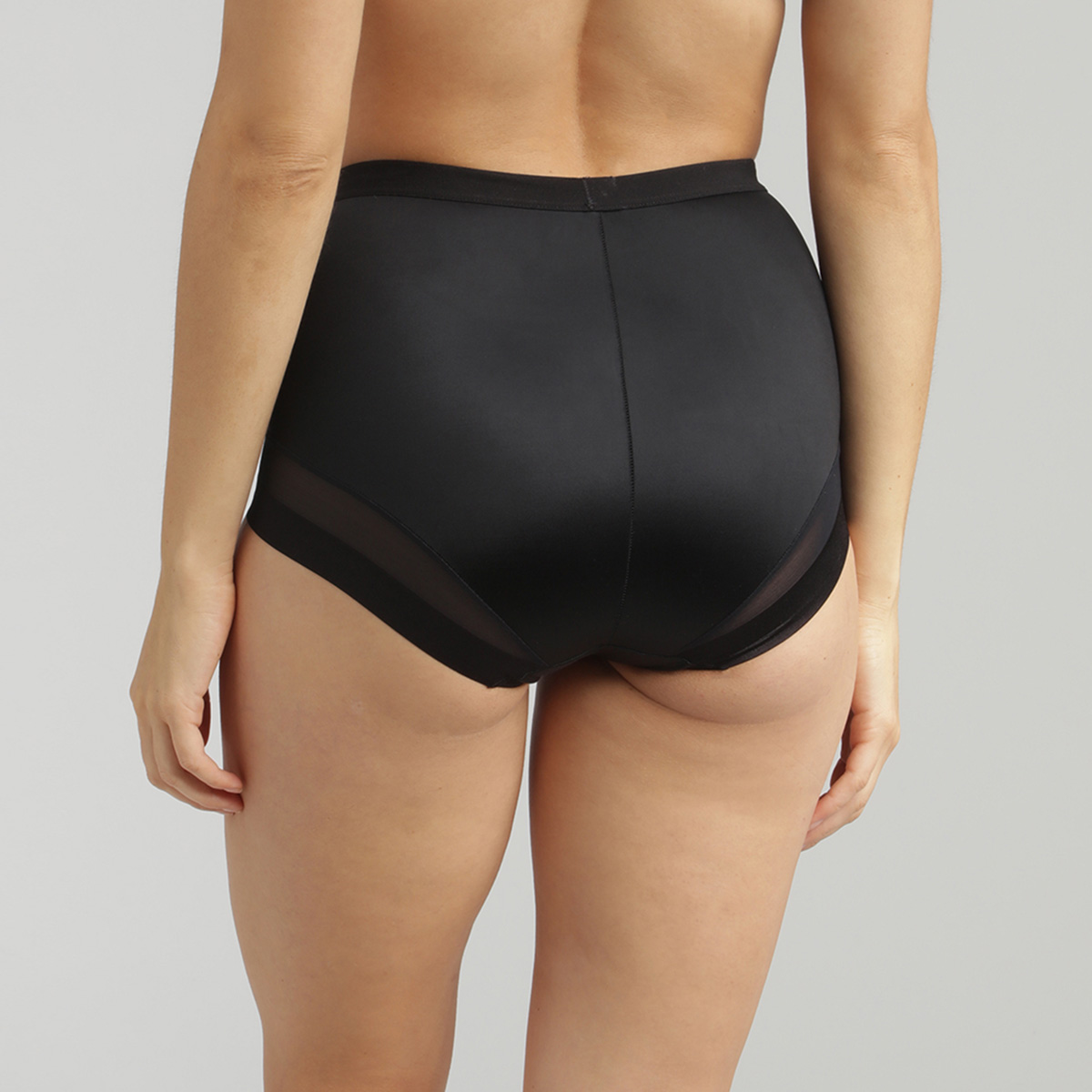 High Waisted Shaping Knickers in Black – Perfect Silhouette, , PLAYTEX