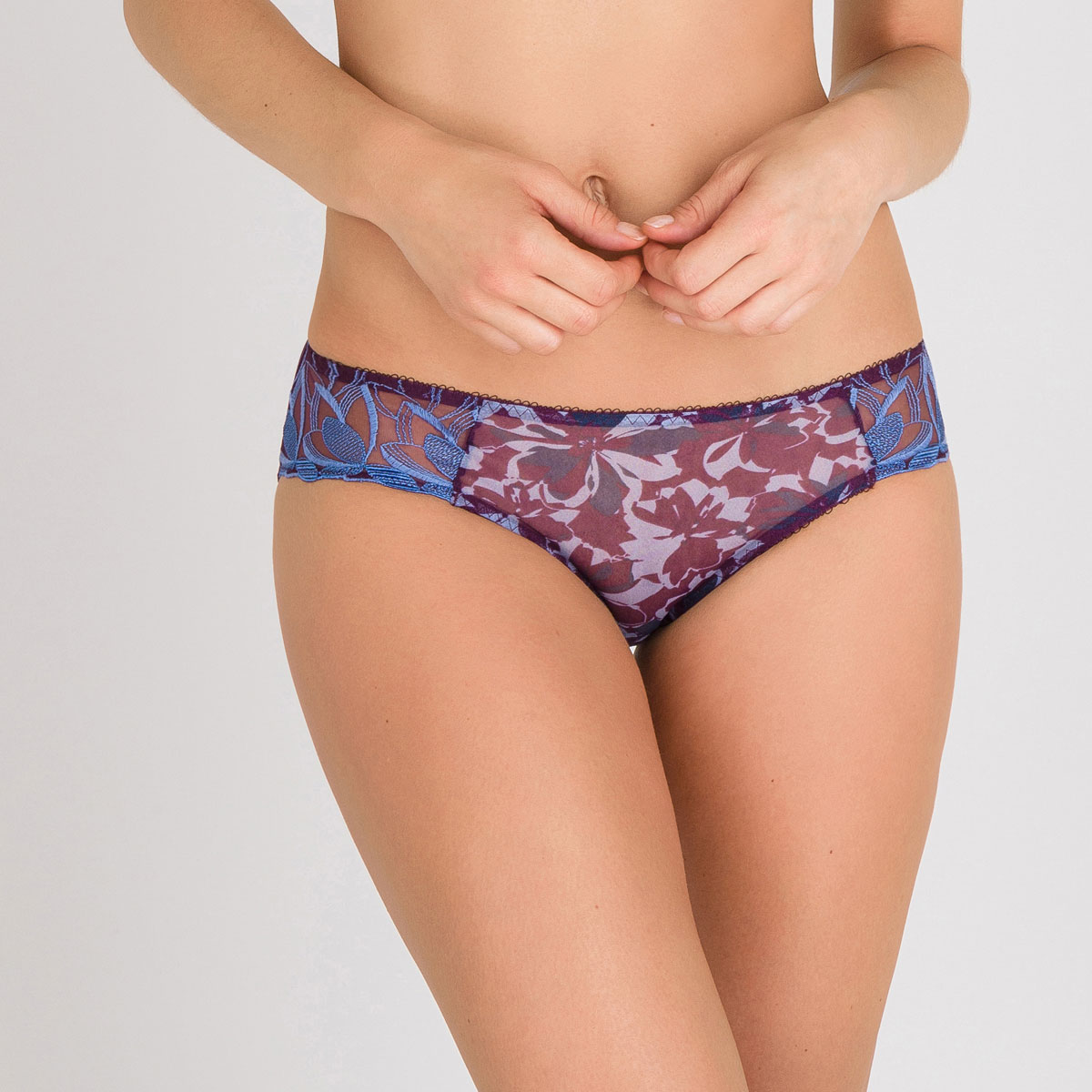 Mini brief in Purple Print - Daily Elegance-PLAYTEX