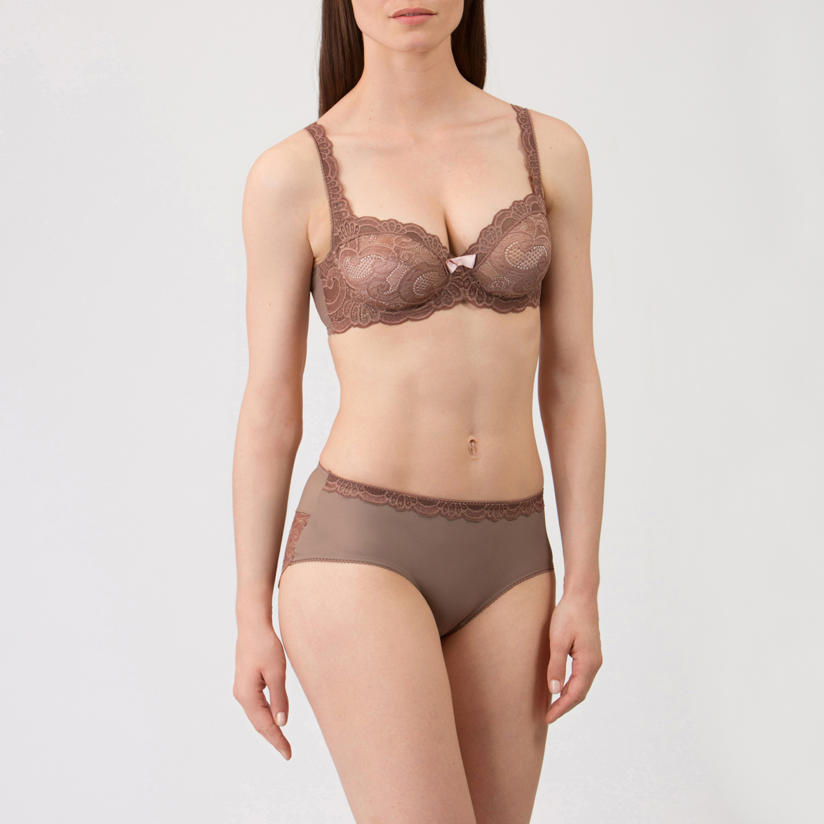 Balcony Bra in Warm grey - Invisible Elegance-PLAYTEX