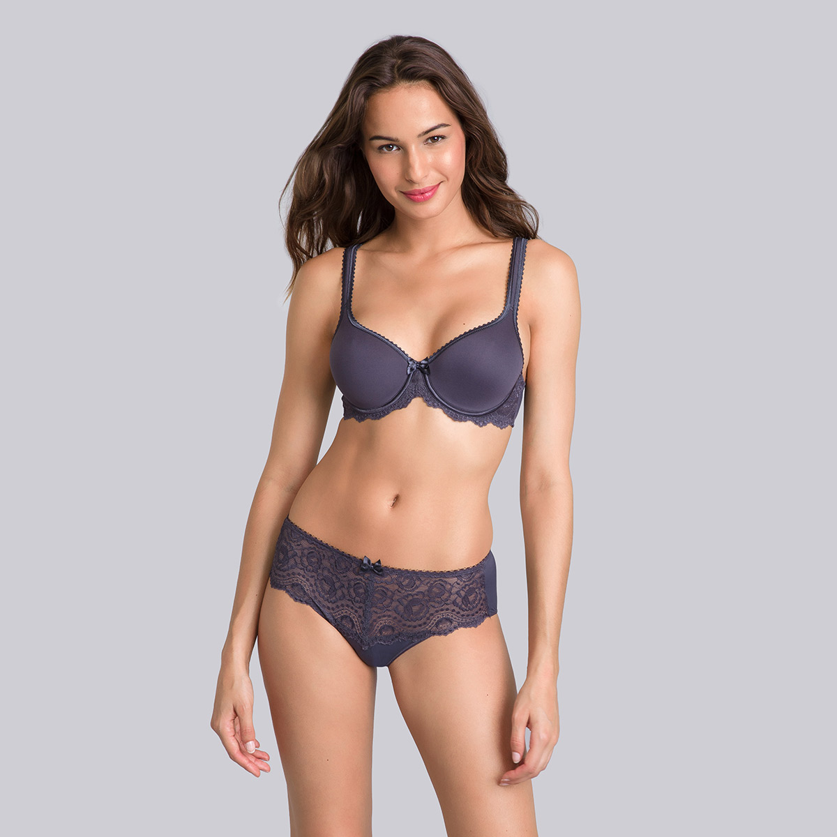 Steel grey spacer bra - Flower Elegance-PLAYTEX