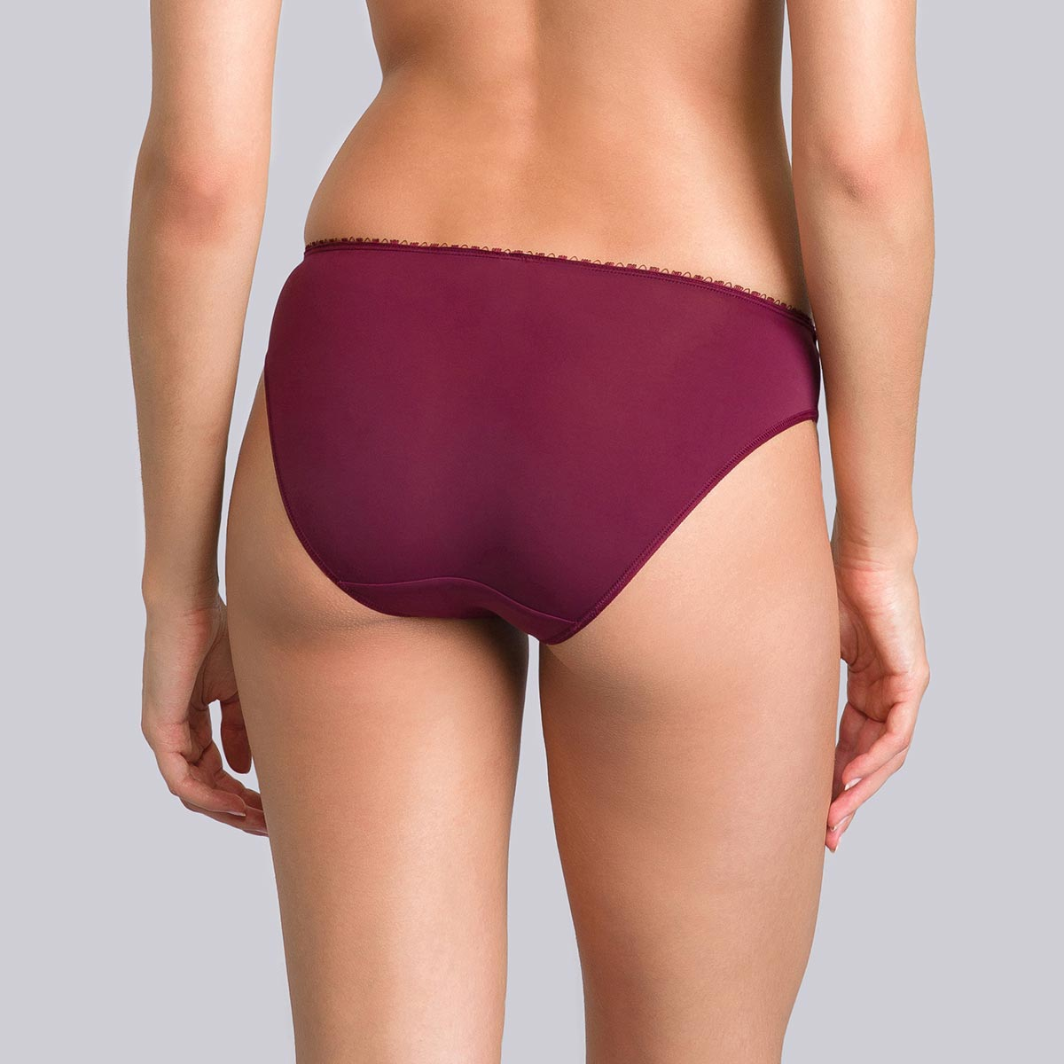 Purple burgundy mini briefs - Flower Elegance-PLAYTEX