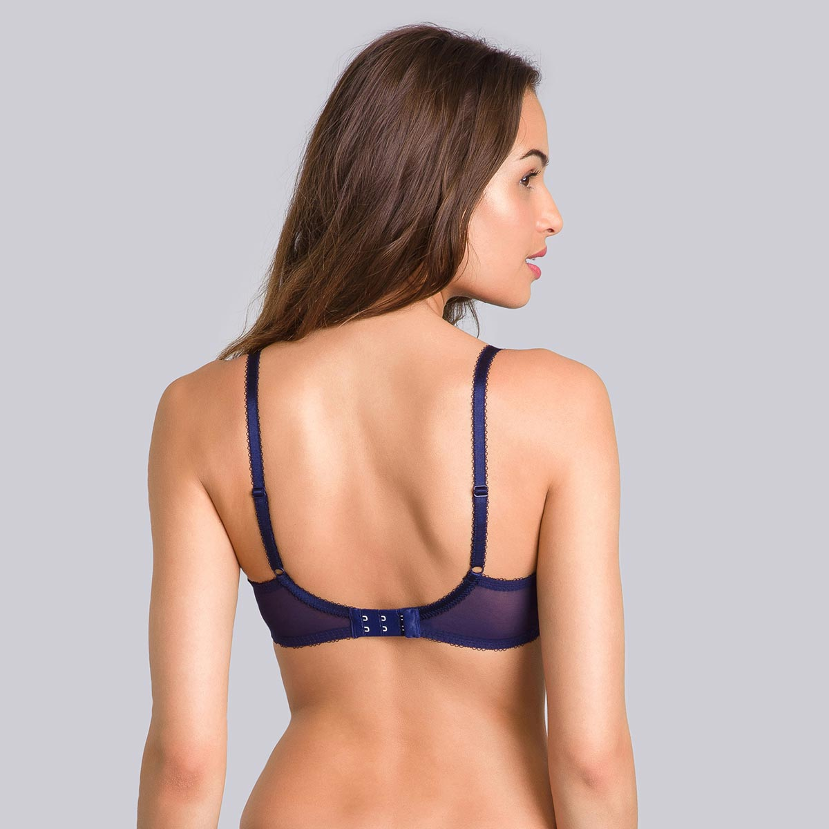 Blue balconette bra with green print - Daily Elegance-PLAYTEX