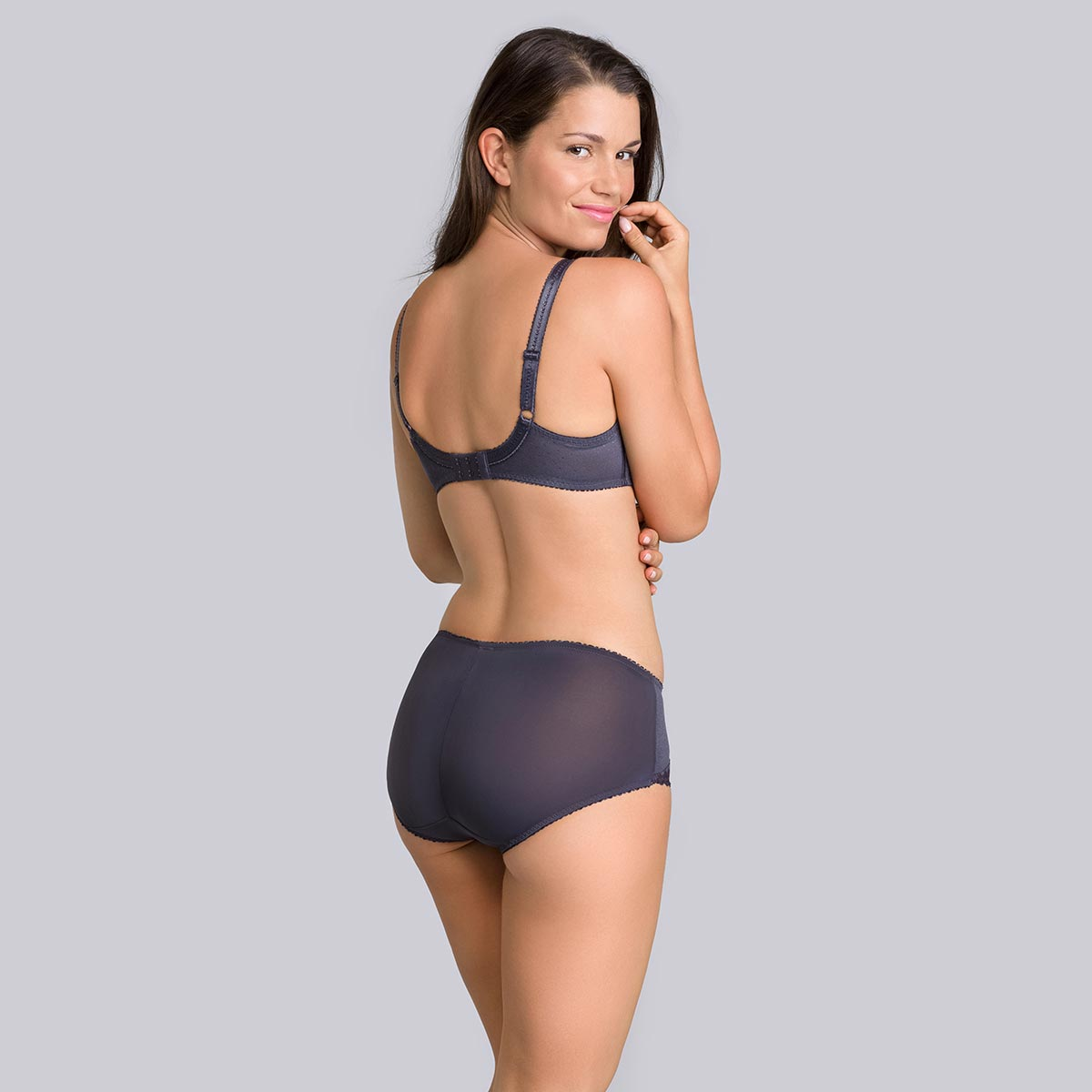 Steel grey midi briefs - Cross your Heart Feminine-PLAYTEX