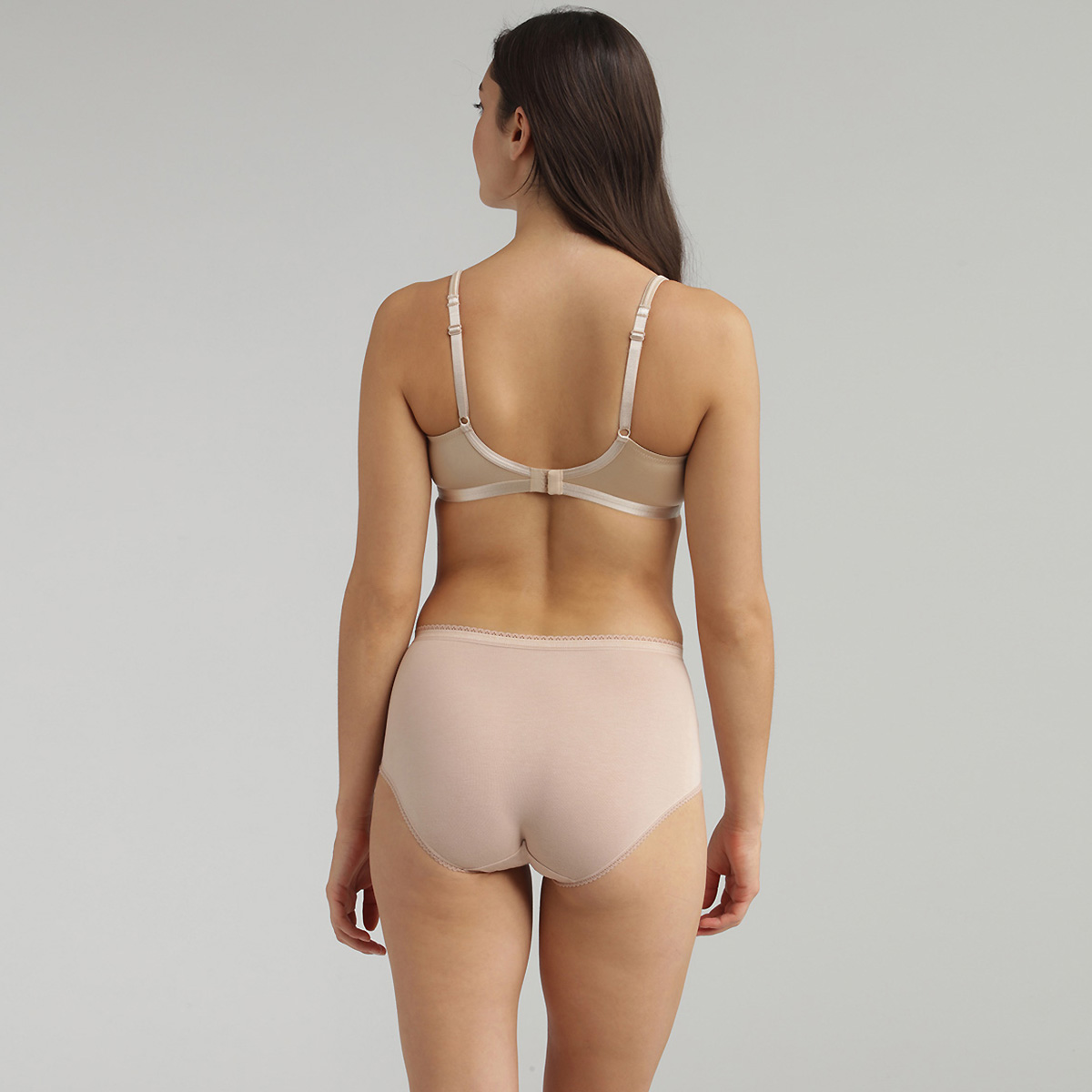 2 Pack of Midi Knickers in Nude - Stretch Cotton, , PLAYTEX