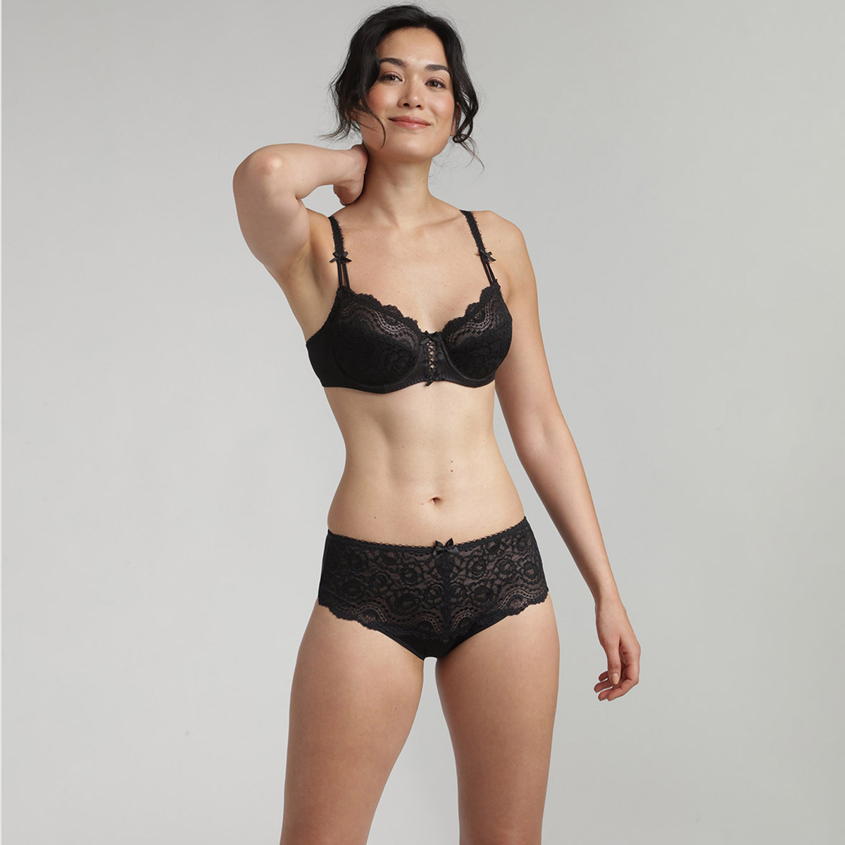Balcony bra in black Flower Elegance, , PLAYTEX
