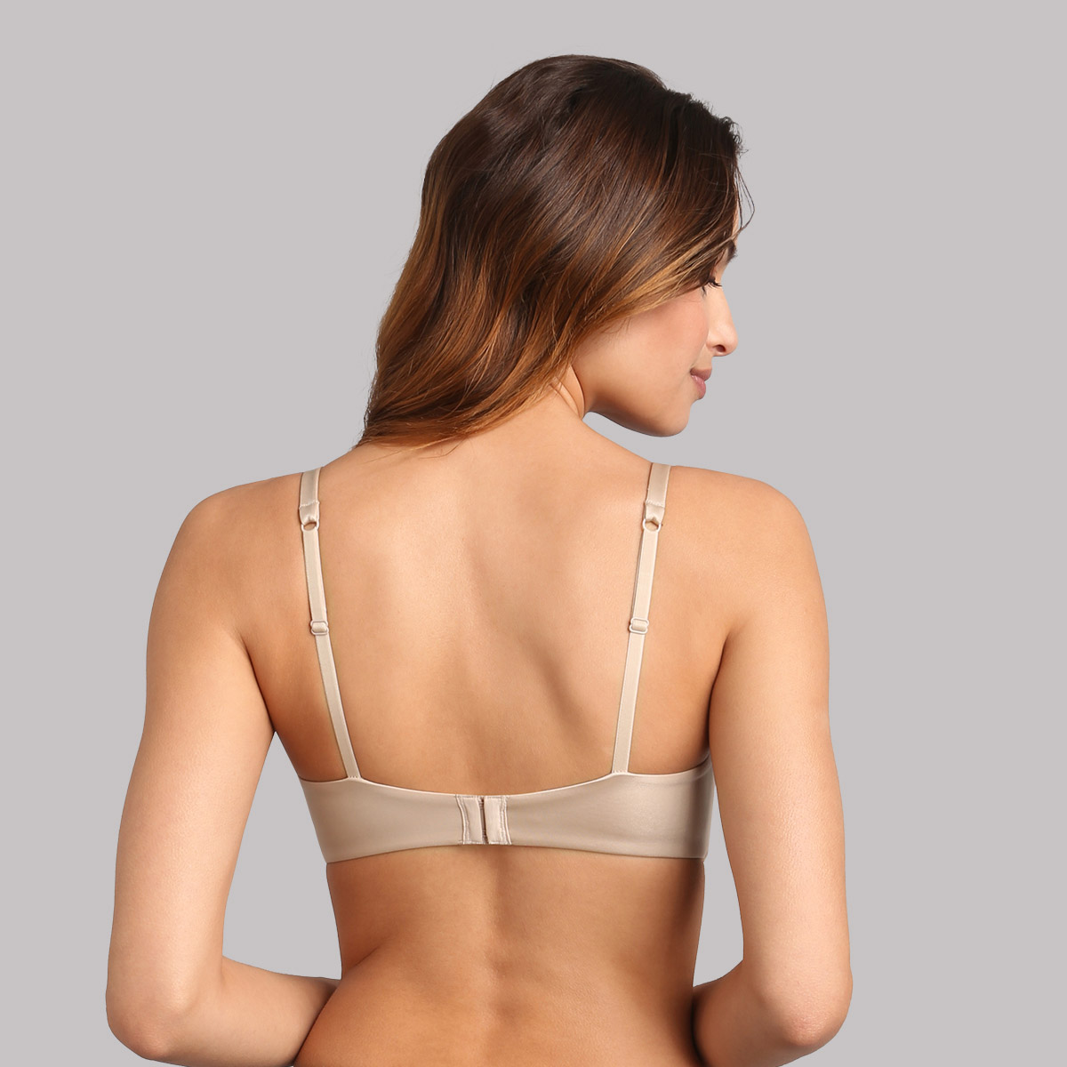 Full cup bra with removable underwires in light brown 24h Absolute Soft, , PLAYTEX