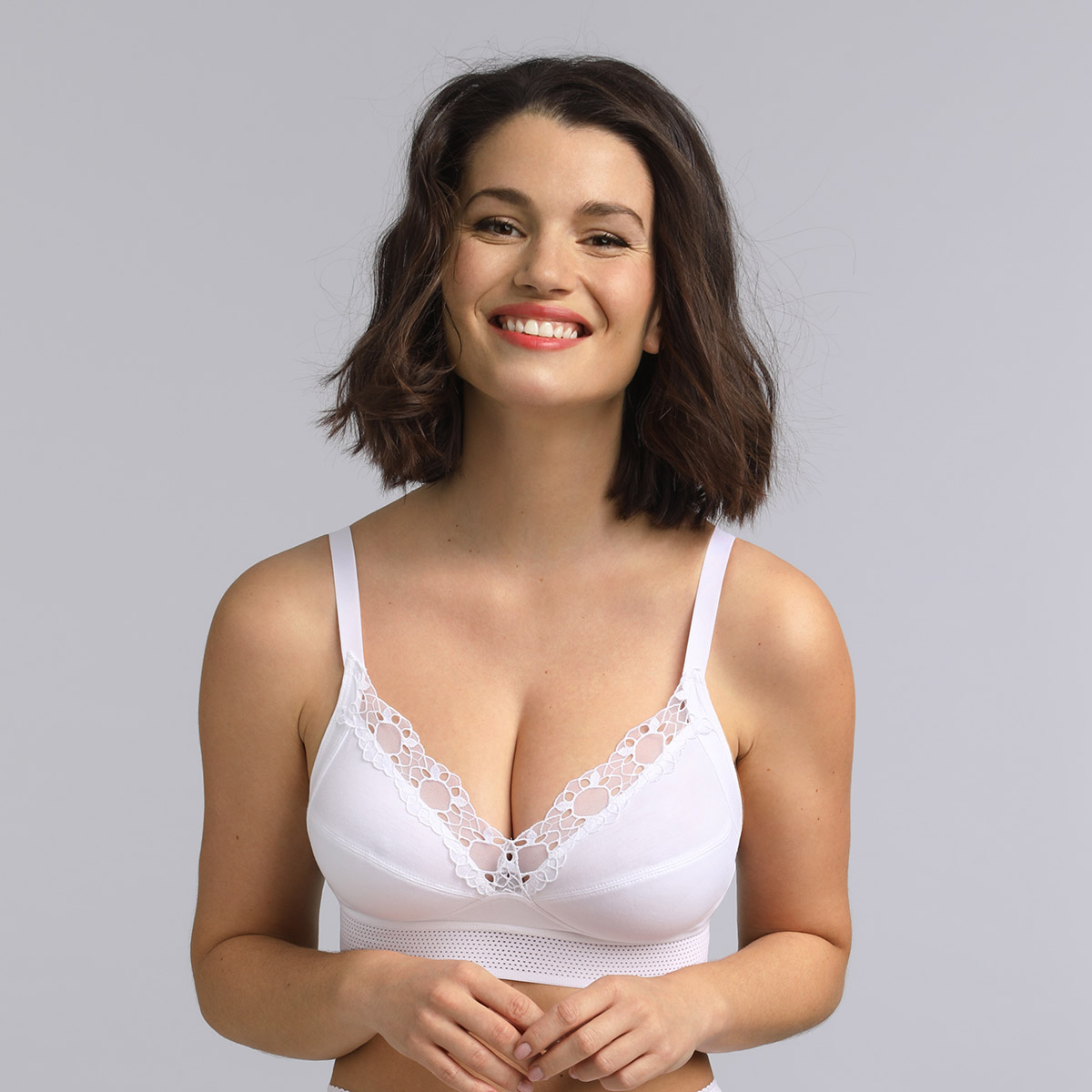 Non wired touch of organic cotton bra Feel Good Support  , , PLAYTEX