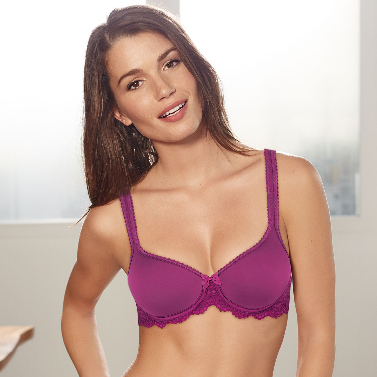 Purple fuchsia spacer bra - Flower Elegance-PLAYTEX