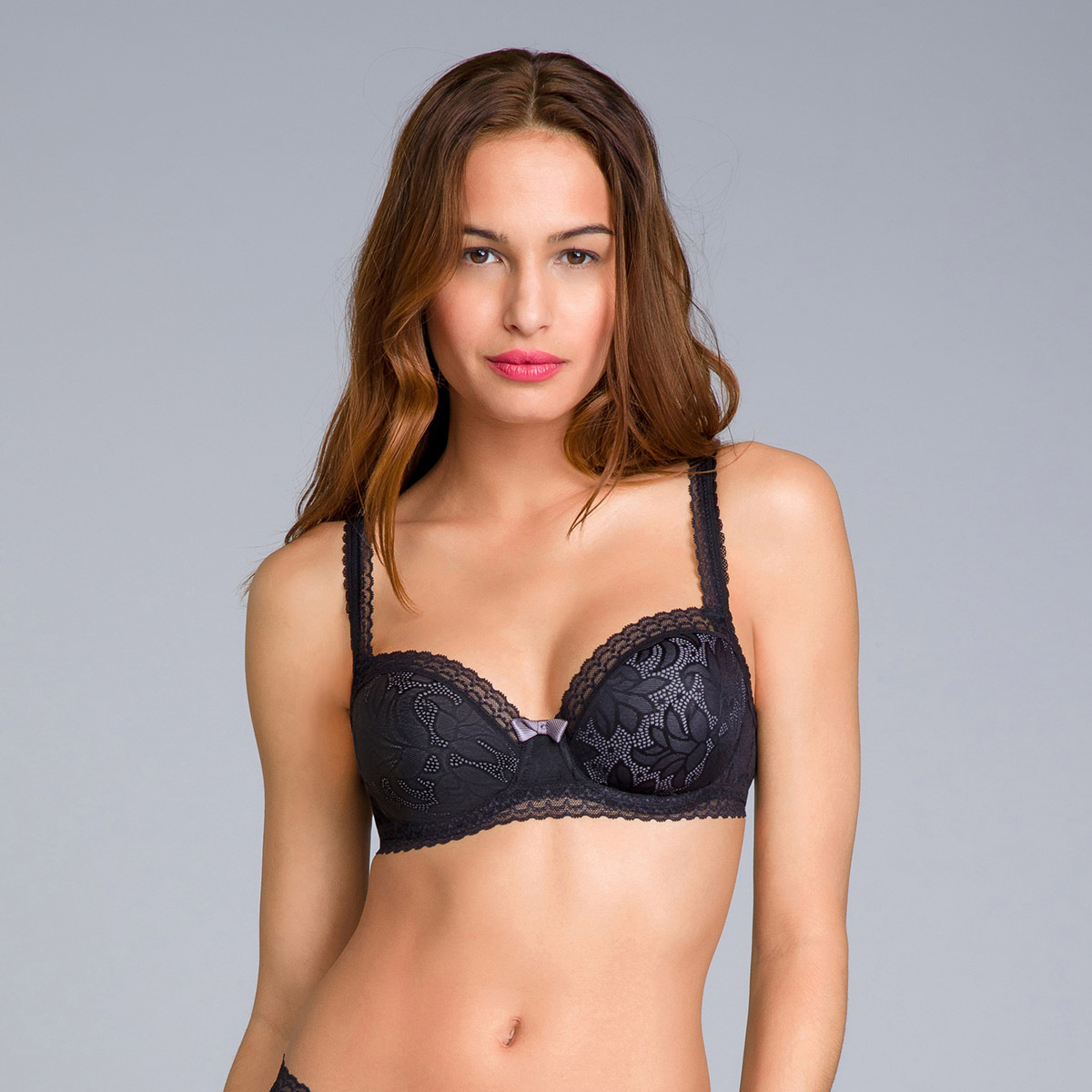 Balcony Bra in Black Lace - Invisible Elegance, , PLAYTEX
