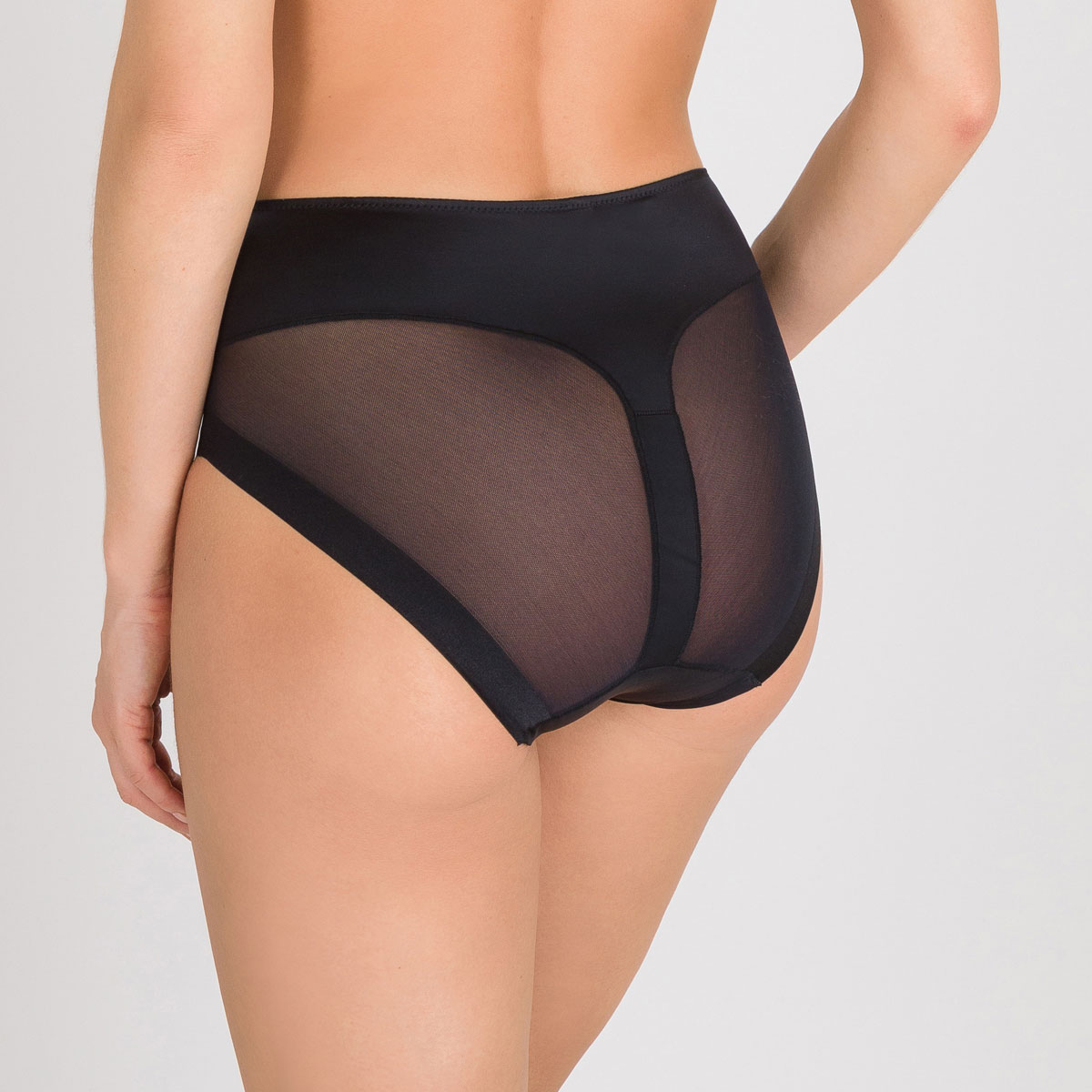Invisible High-rise Shaping Knickers in Black – Perfect Silhouette, , PLAYTEX