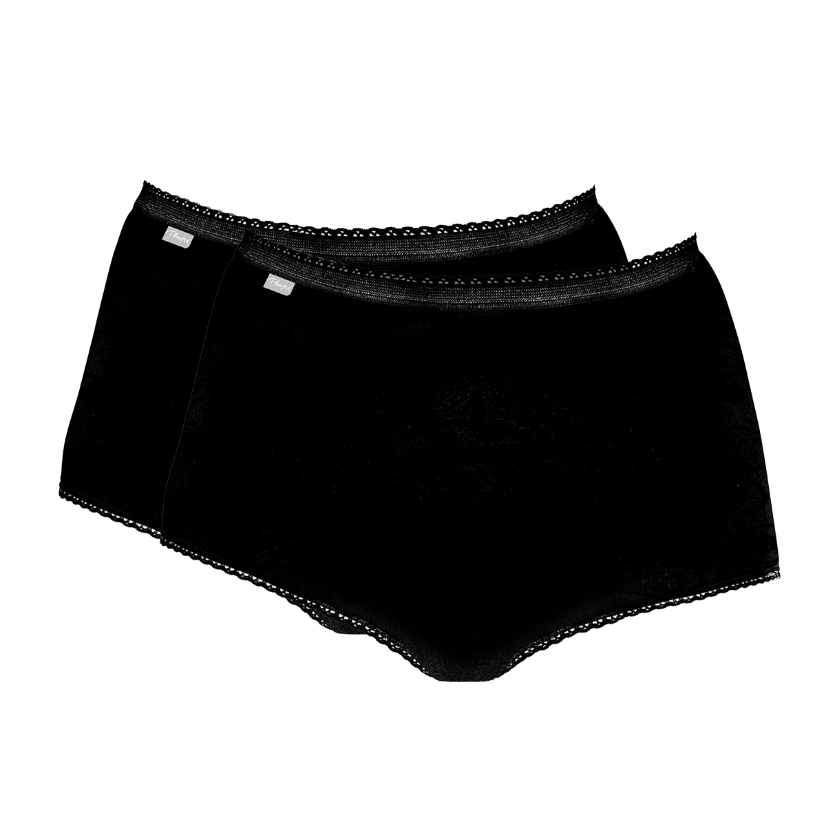 2 x high-rise knickers in Black – Stretch Cotton, , PLAYTEX