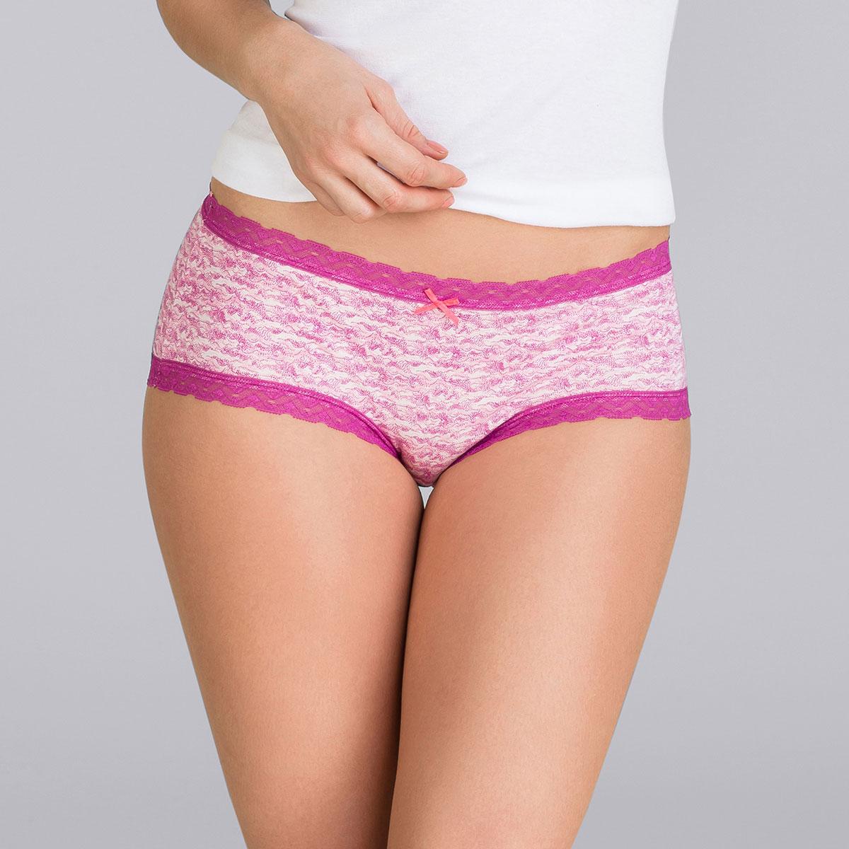 2 Pack purple mix shorts - Basic Cotton Fancy-PLAYTEX