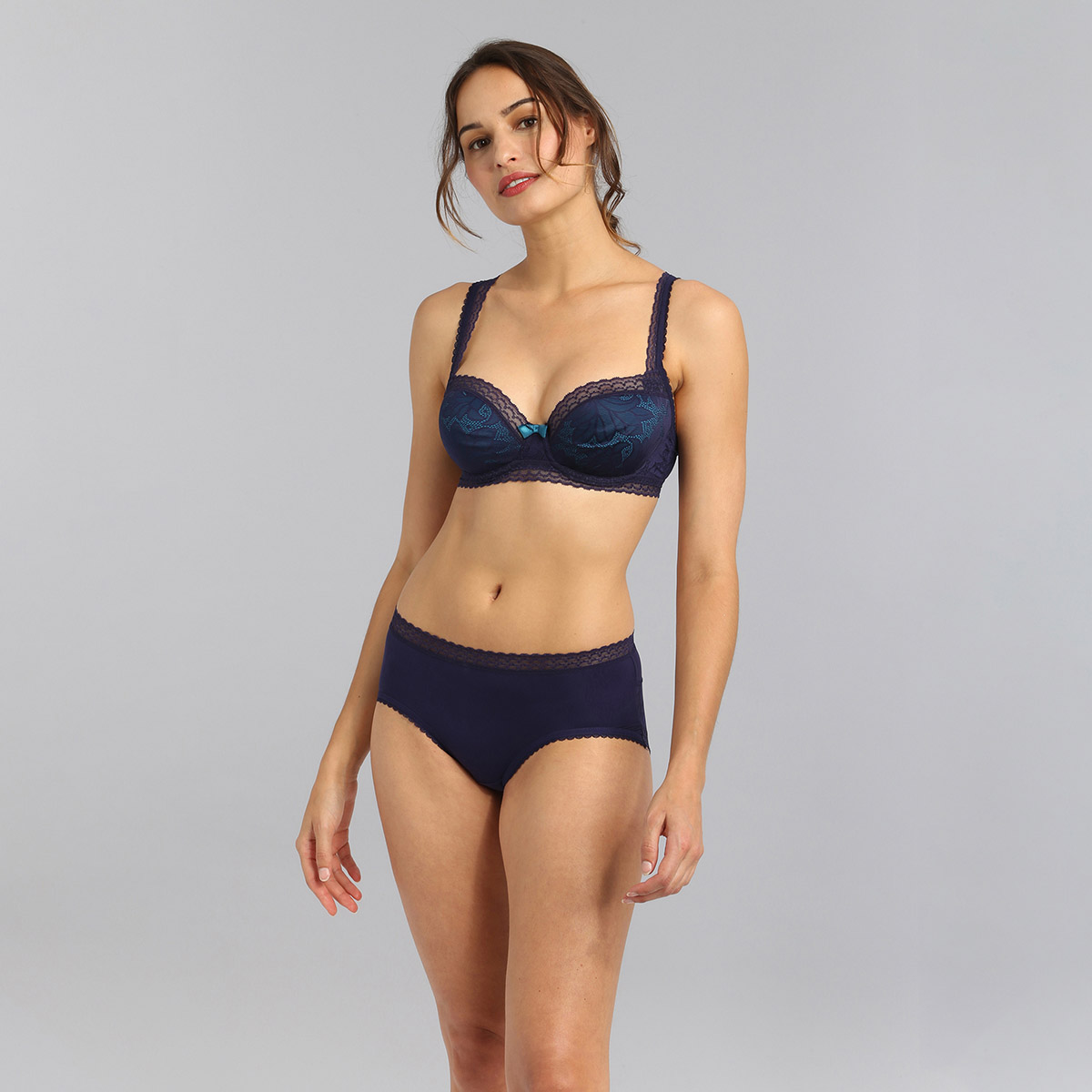 Midi knickers in navy blue Invisible Elegance, , PLAYTEX