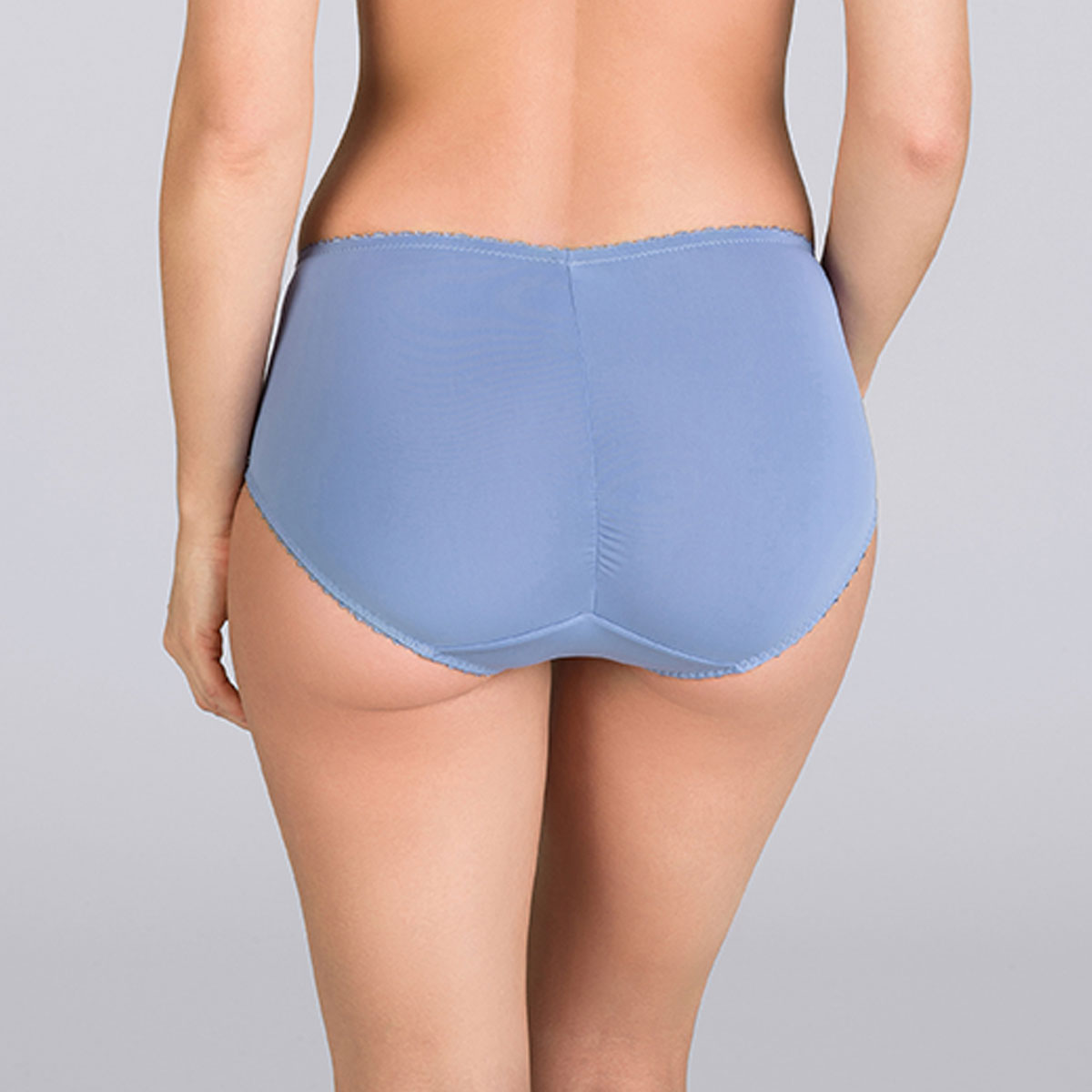 Denim blue Midi brief - Cross your Heart Lace-PLAYTEX